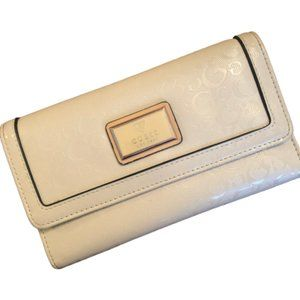 Guess Beige Patent Leather Wallet